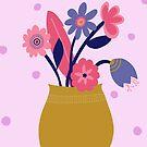 Pink Spotty Flowers by sazerelli