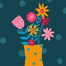 Mustard Spotty Florals by sazerelli