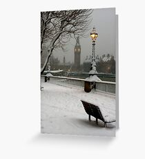 Big Ben in the snow - 2 Greeting Card