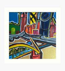 Brisbane City - A Colourful Painting Art Print