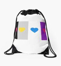 Panromantic Hearts Asexual Flag Stripes Asexual T-Shirt Drawstring Bag
