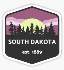 South Dakota Moonlight Sticker