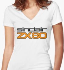 ZX80 Large Women's Fitted V-Neck T-Shirt