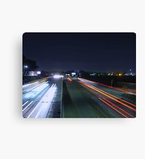 Night Highway Canvas Print