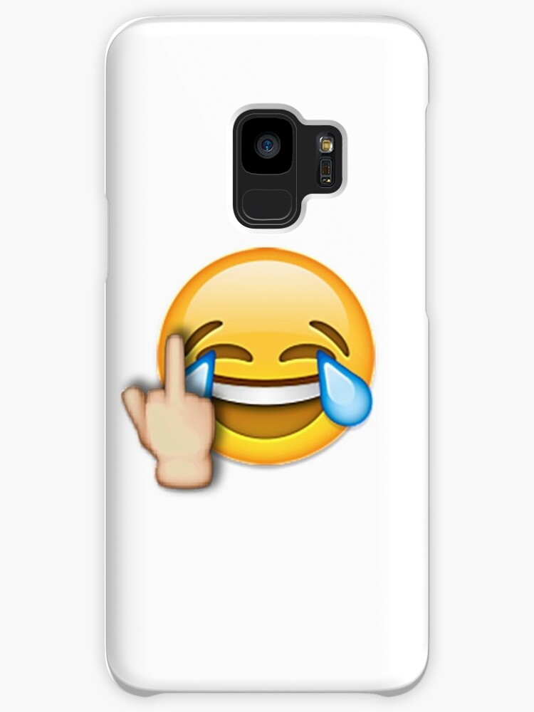 Middle Finger Laughing Emoji Cases Skins For Samsung Galaxy By