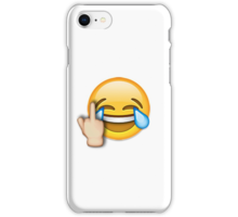 iphone middle finger emoji quot middle finger laughing emoji quot stickers by nsty redbubble 15331