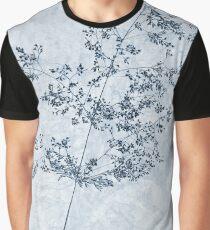 Pressed Grass Cyanotype Graphic T-Shirt