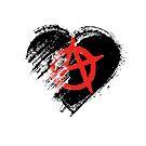Grungy I Love Anarchy Heart Flag by stíobhart matulevicz