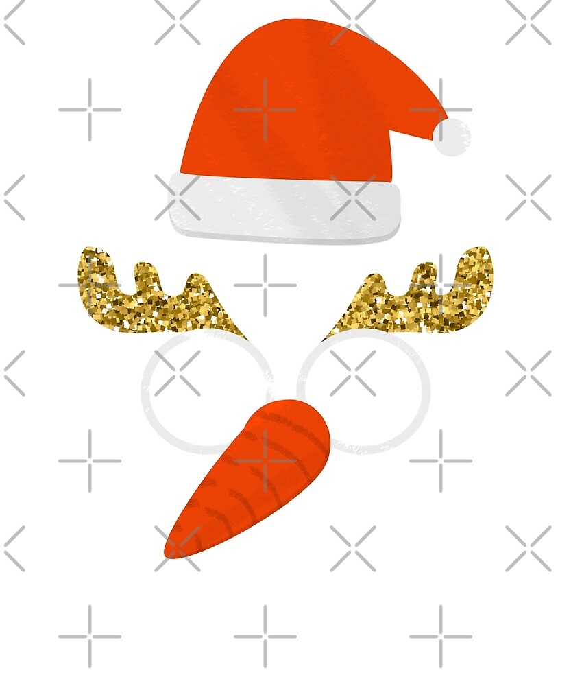 Funny Christmas Mask with Carrot Nose & Santa Hat by stine1