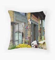 Antique Shops Throw Pillow