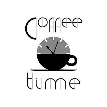 Coffee Time Cafe Clock design by GetItGiftIt