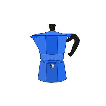 Blue Moka Coffee Pot design by GetItGiftIt