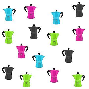Colourful Bialetti Moka Coffee Pots by GetItGiftIt