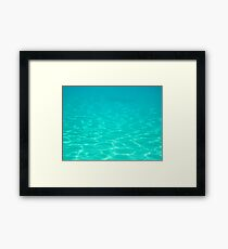 Floating in Turquoise Waters Framed Print