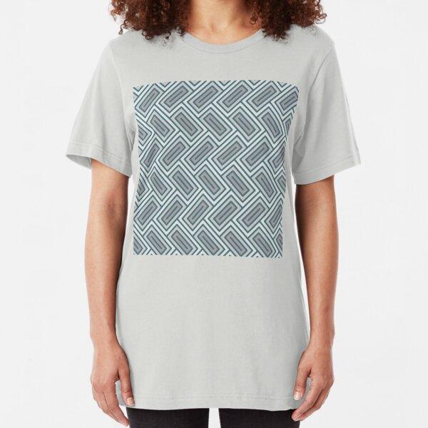 Geometric Pattern: Falling Rectangle: Ceramic Slim Fit T-Shirt