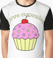 I Love Cupcakes Graphic T-Shirt