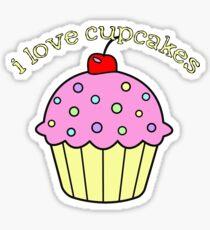 I Love Cupcakes Sticker