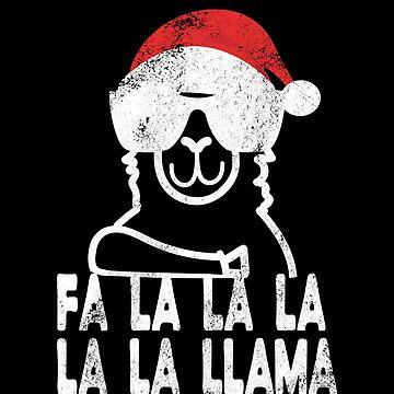 Fa la la la Llama Shirt Funny Christmas Santa Llama Shirt by LuckyU-Design