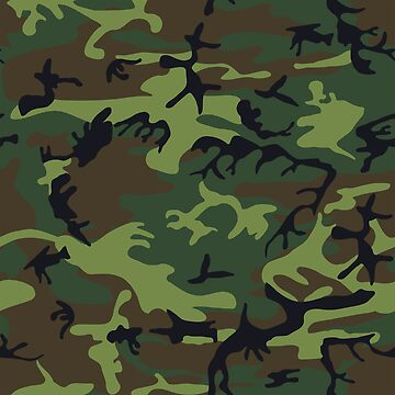 Military Green Camo Pattern by BuzzEdition