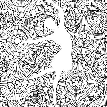Ballerina Doodle | Hand Drawn Stylized Doodle Of A Ballerina by coloringiship
