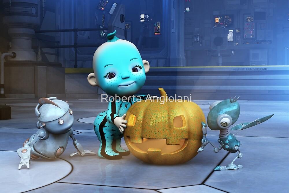 Halloween on the spaceship by Roberta Angiolani