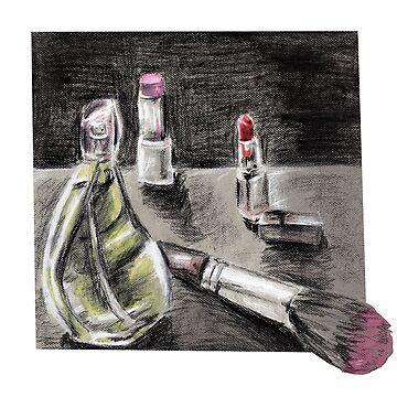 Makeup & Perfume Drawing Design by KLoganArt