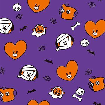 BT21 Halloween Pattern - Purple version by ZeroKara