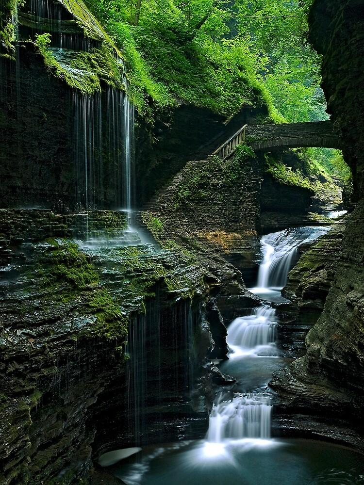 Watkins Glen Falls by Henry Jager