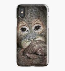 Orang Utan Baby Portrait iPhone Case/Skin