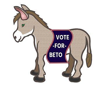Vote for Beto Senate midterm cute donkey kids  by jcaladolopes