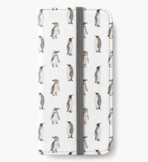 Penguins - watercolour wildlife pattern iPhone Wallet/Case/Skin