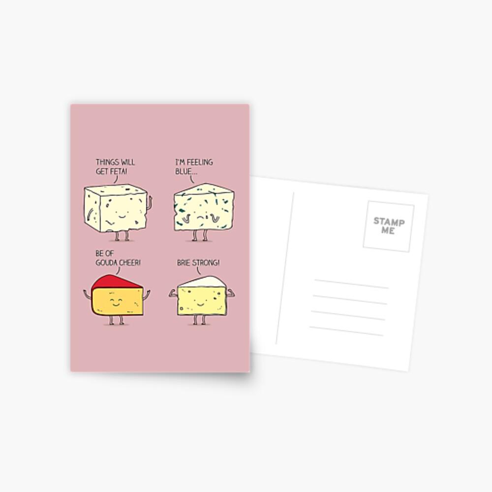 cheesy puns Postcard