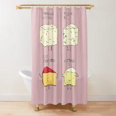 cheesy puns Shower Curtain