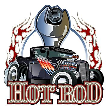 Cartoon retro hot rod by Mechanick
