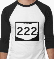 Ohio State Route SR 222 | United States Highway Shield Sign Men's Baseball ¾ T-Shirt