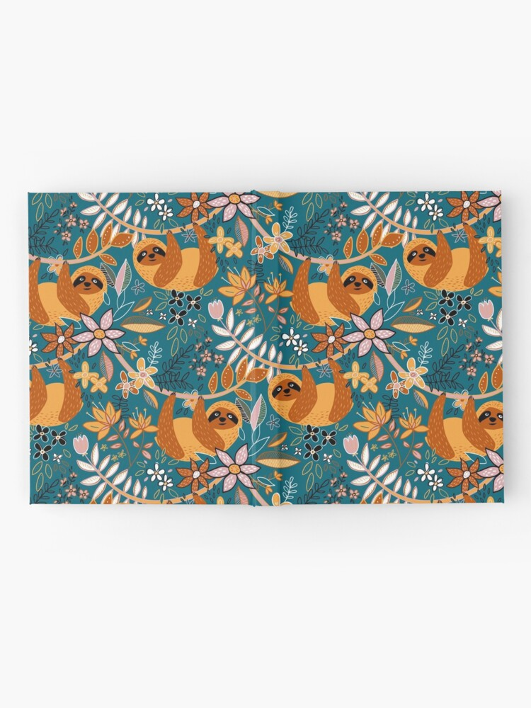 Alternate view of Happy Boho Sloth Floral  Hardcover Journal