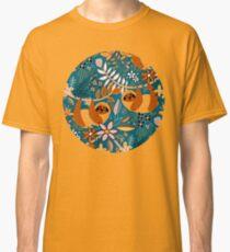 Happy Boho Sloth Floral  Classic T-Shirt