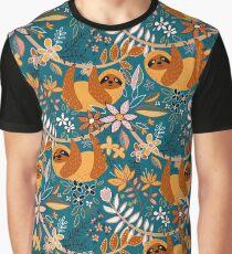 Camiseta gráfica Feliz boho floral perezoso