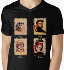 The Renaissance Ninja artists Italian famous artists, painters turtles  Men's V-Neck T-Shirt
