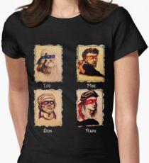 Die Renaissance-Ninja-Künstler sind bekannte italienische Künstler, Malschildkröten Tailliertes T-Shirt
