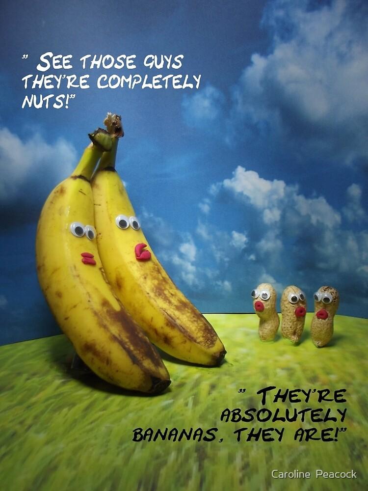 Nuts and bananas by Caroline  Peacock