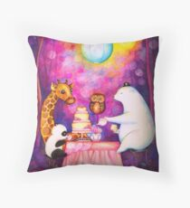 Magical Midnight Tea Party Throw Pillow
