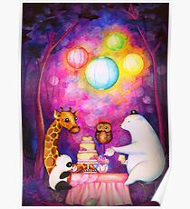 Magical Midnight Tea Party Poster