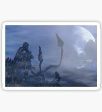 dark creatures in the night Sticker