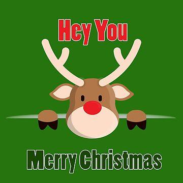 Merry Christmas Deer  by MNA-Art