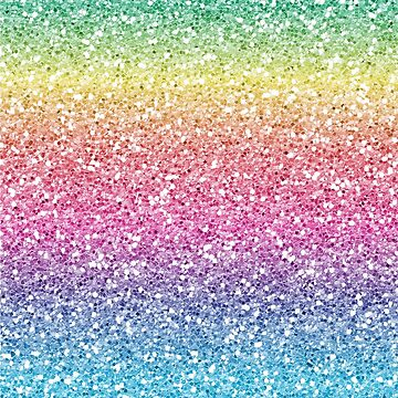 Rainbow Ombre Glitter by TeeVision