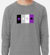 ASEXUAL FLAG ASEXUAL ACE OF SPADES ASEXUAL T-SHIRT Lightweight Sweatshirt
