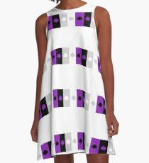ASEXUAL FLAG ASEXUAL ACE OF SPADES ASEXUAL T-SHIRT A-Line Dress