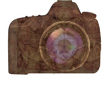 World Map Camera for Traveler Taking Great Photo and Photography Pictures  by jimwest001