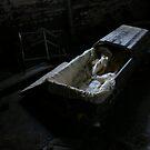 Coffin in asylum basement by DariaGrippo